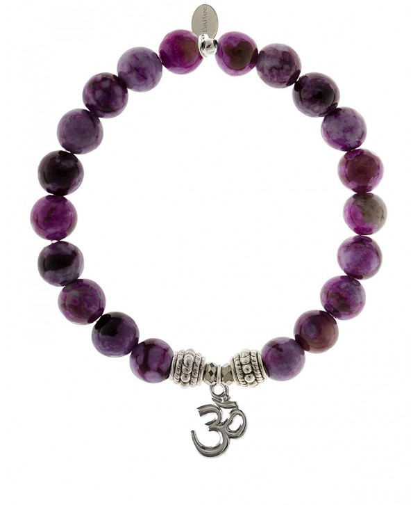 EvaDane Precious Sugilite Gemstone Bracelet