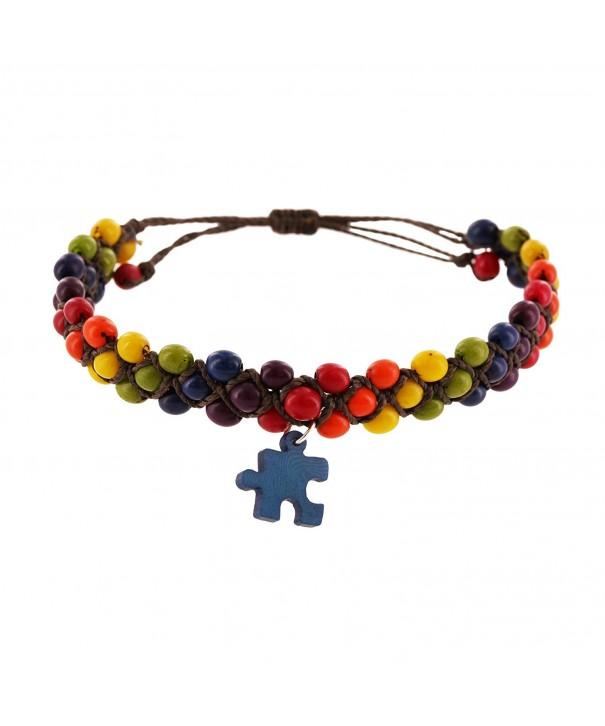 Awareness Natural Rainbow Adjustable Bracelet