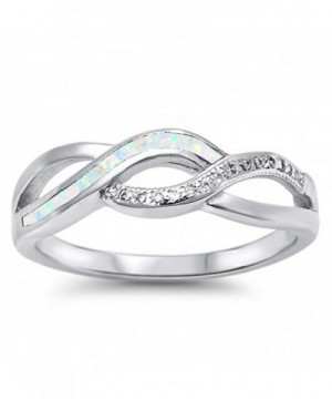 Simulated Infinity Sterling Silver RNG16175 8