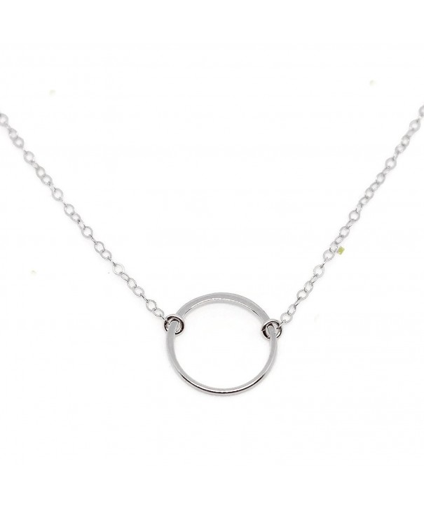Circle Necklace Sterling Wild Moonstone