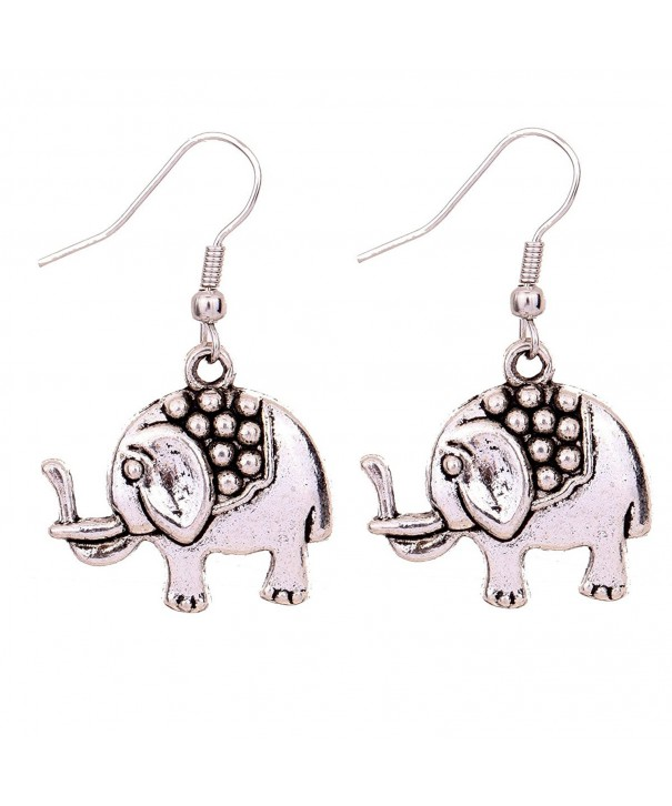YAZILIND Retro Elephant Dangle Earrings