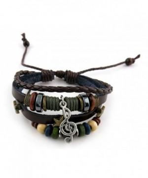 Fashion Bracelet Leather Handmade Braided