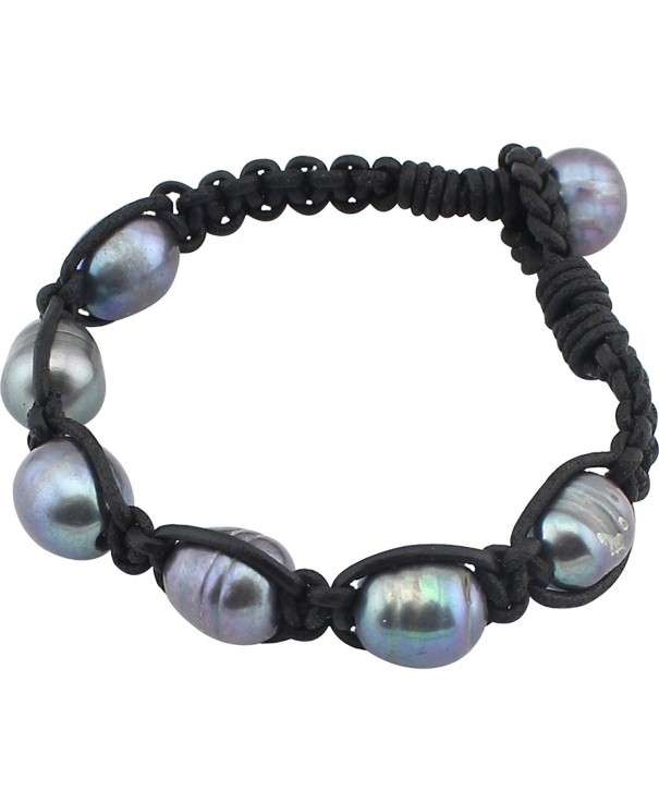 PearlyPearls Freshwater Cultured Bracelet Braided