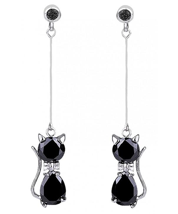 DaisyJewel Classy Crystal Dangle Earrings