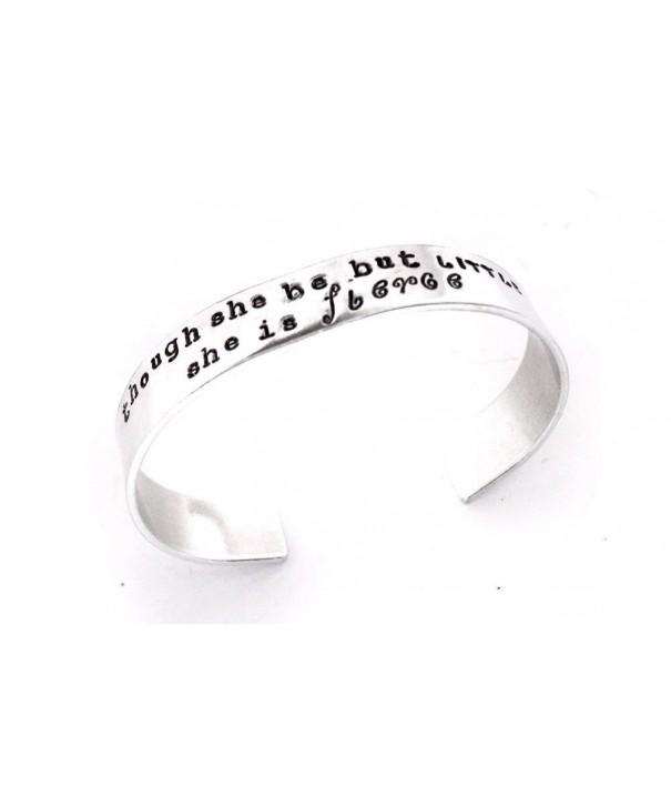 Though Stamped Aluminum Adjustable Bracelet