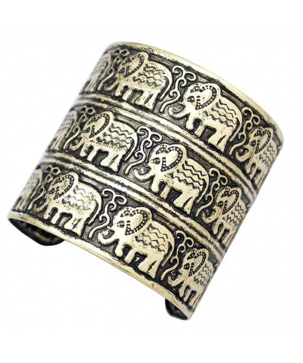 Fashion African Embossed Elephant Bracelet