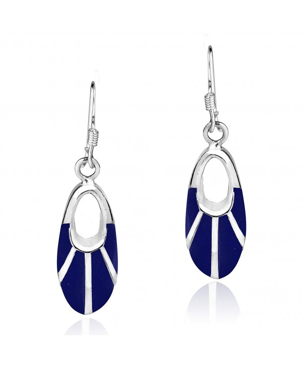 Celestial Reconstructed Lapis Lazuli Sterling Earrings
