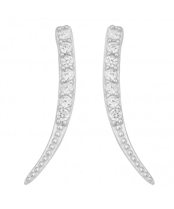 Sterling Silver Zirconia Stylish Earrings