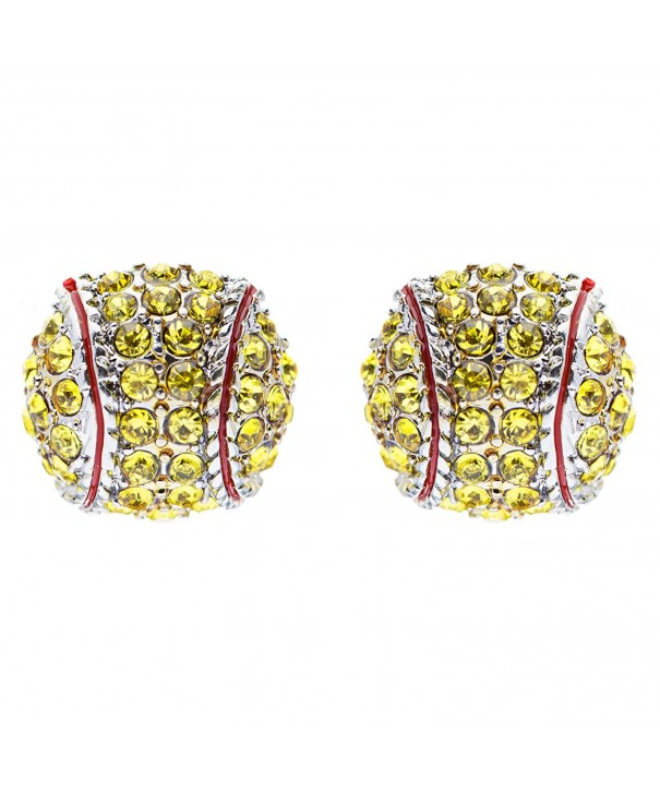 Softball Crystal Rhinestone Fashion Earrings