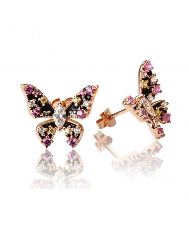Apotie Sterling Silver butterfly Earring