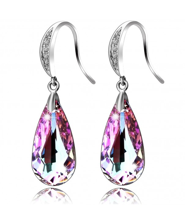 SILYHEART Teardrop Earrings Swarovski Crystals