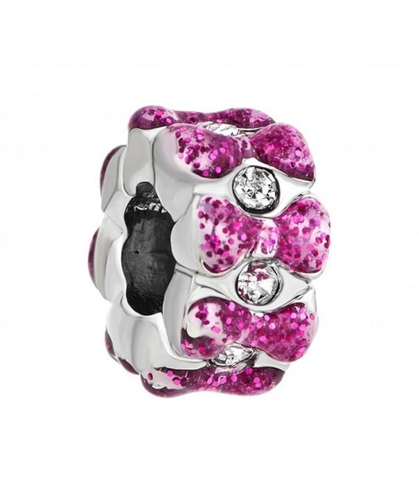 Birthstones Crystal Bowknot Pandora Bracelet