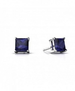 Solitaire Princess Simulated Blue Sapphire