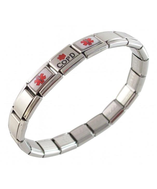 Medical Alert Italian Charm Bracelet