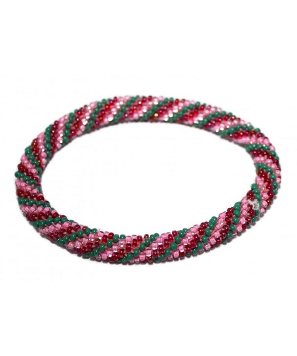 Crochet Glass Bracelet Nepal SB499