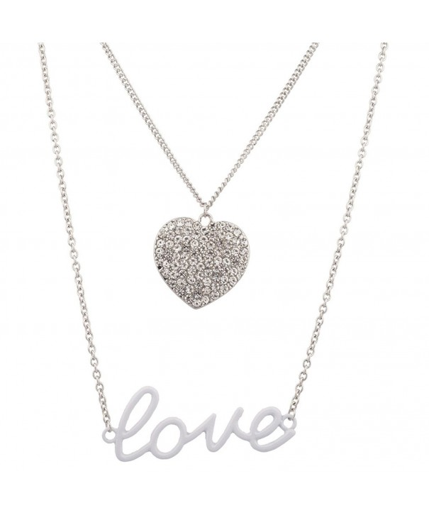 Lux Accessories Valentines Pendant Necklace