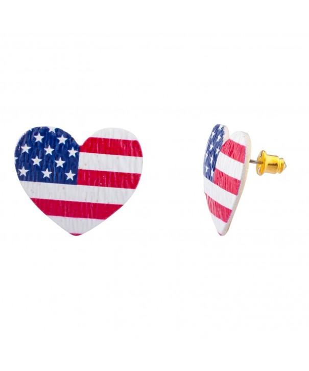 Lux Accessories American America Earrings