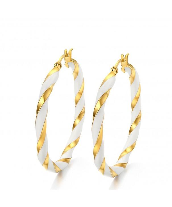 JAJAFOOK Stainless Winding Earrings Accessories