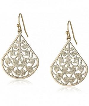 1928 Jewelry Gold Tone Filigree Earrings