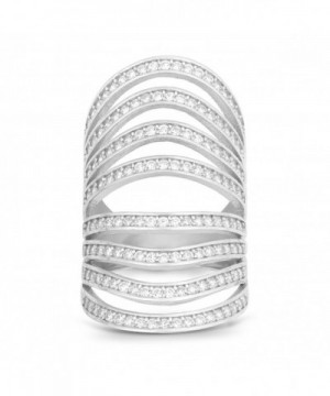 Sterling Silver Channel Multi Row Long