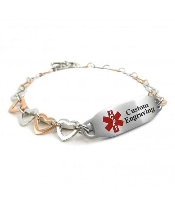 MyIDDr Engraved Medical Bracelet Stainless
