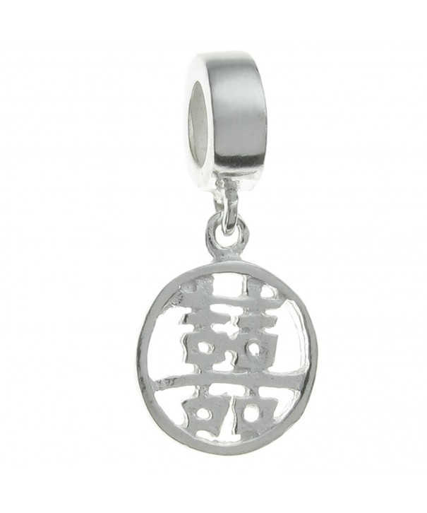 Sterling Silver Chinese Happiness European