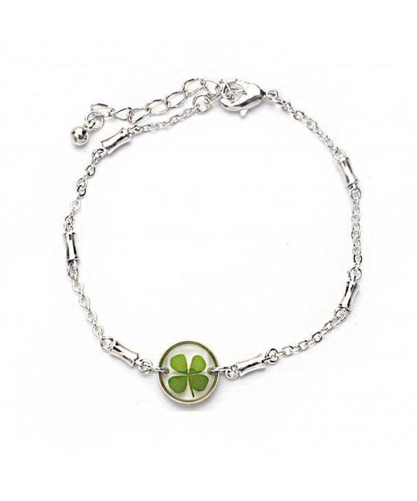 Stainless Steel Clover Symbol Bracelet