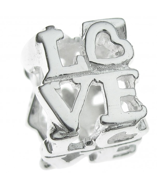 Sterling Silver Letter Heart European