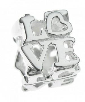 Sterling Silver Letter Heart European