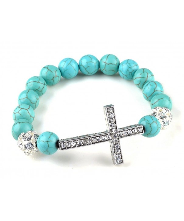 Fashion Jewelry Created Turquoise rhinestones bracelet