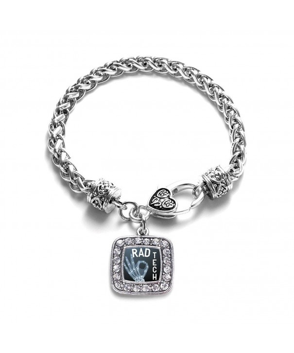 Classic Silver Plated Crystal Bracelet