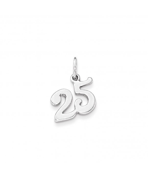Sterling Silver Polished 25 Charm