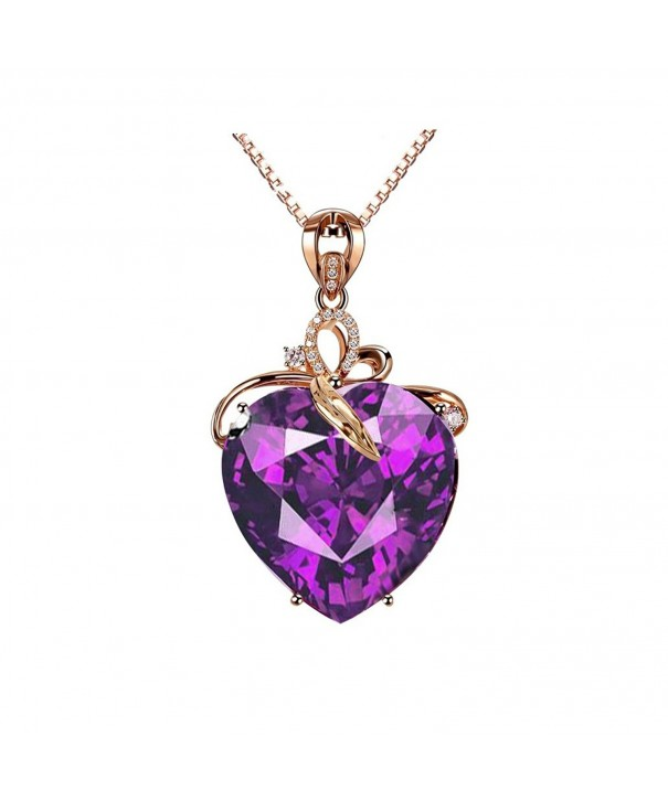 Uloveido Womens Valentines Necklace Zirconia