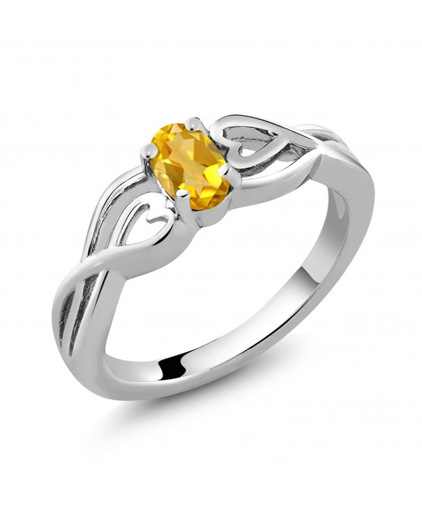 Citrine Gemstone Birthstone Sterling Silver