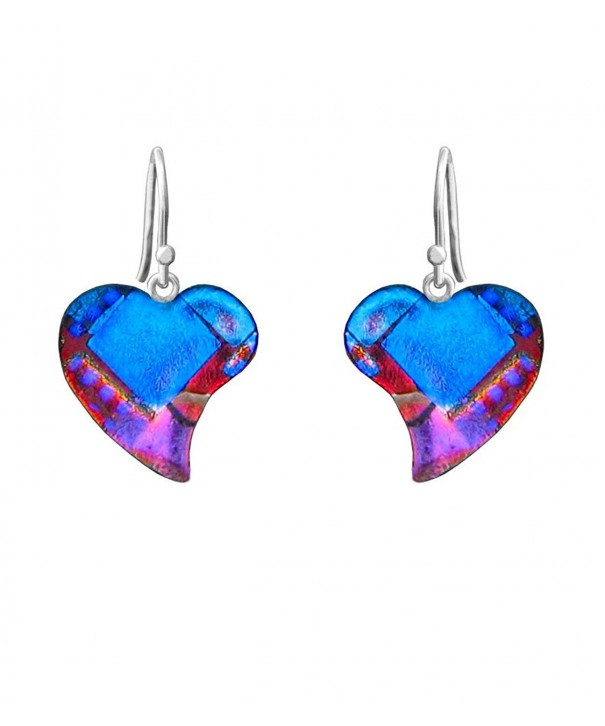DreamGlass Sterling Silver Dichroic Earrings