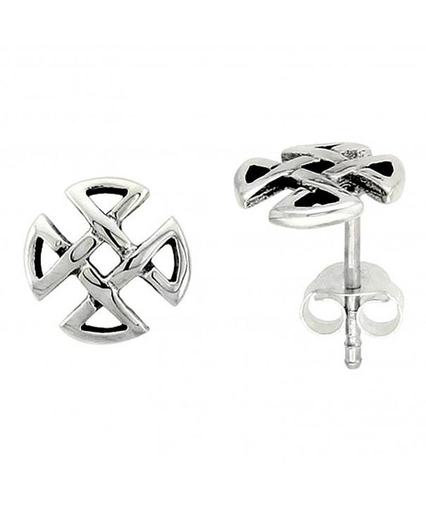 Sterling Silver Quaternary Celtic Earrings