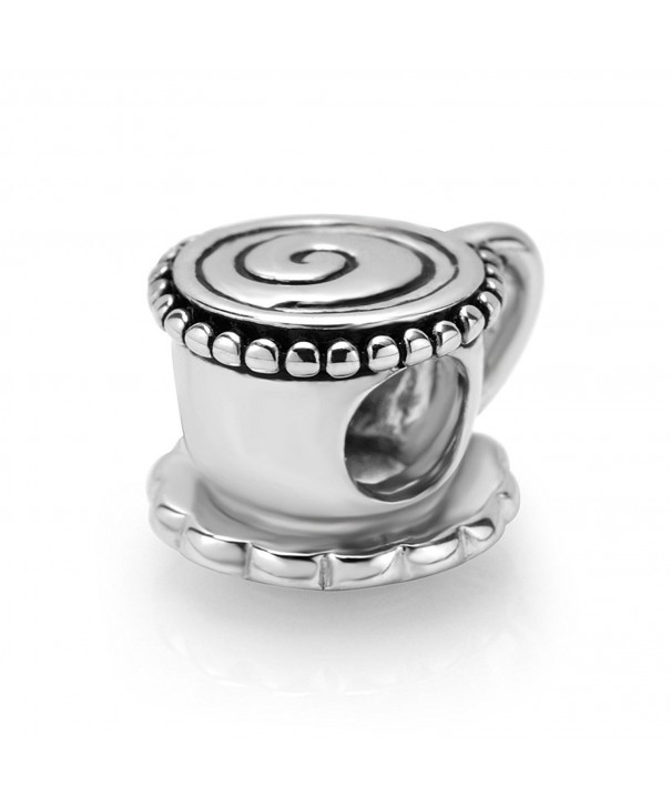 Sterling Silver Coffee Bead Charm