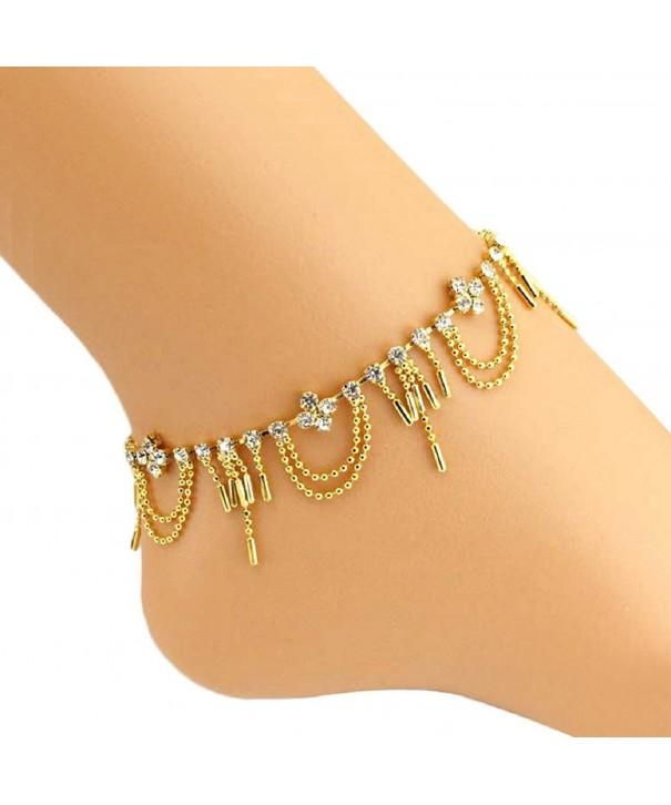 SusenstoneWomen Diamond Bracelet Barefoot Jewelry