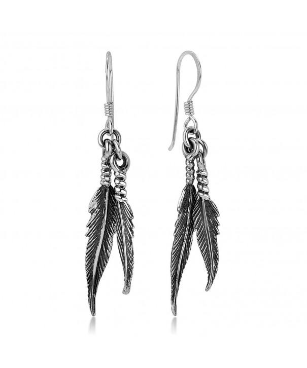 Oxidized Sterling American Dangling Earrings