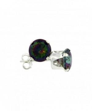 Sterling Silver Zirconia Mystic Earrings