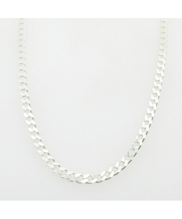 Silver Curb chain Necklace BDC66