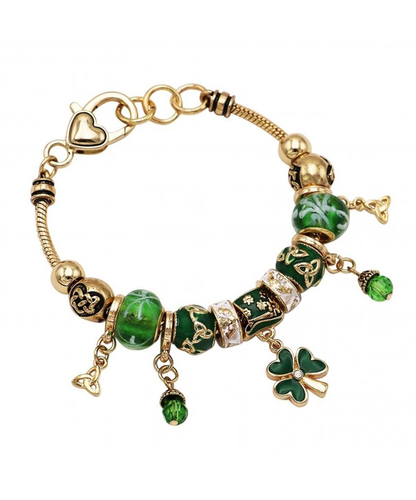 Rosemarie Collections Bracelet Leprechaun Shamrock