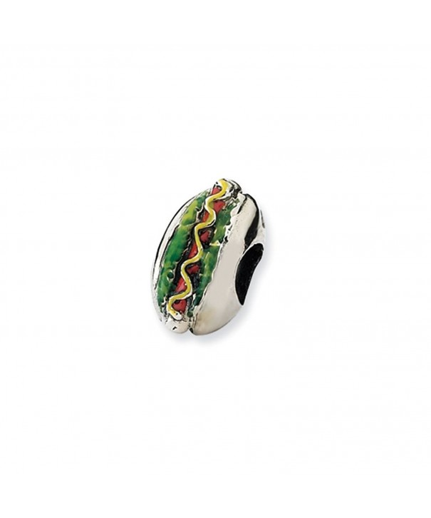 Sterling Silver Enameled Bead Charm