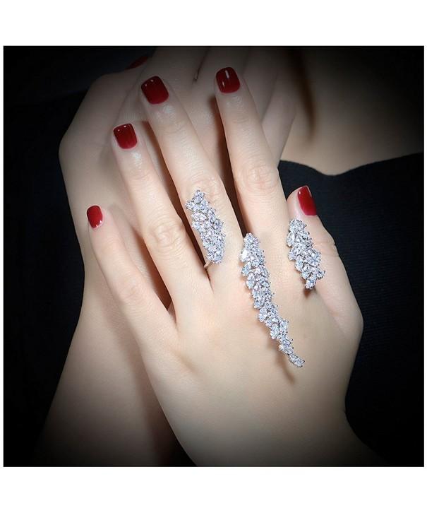 Zirconia Cluster Multiple Jewelry Adjustable