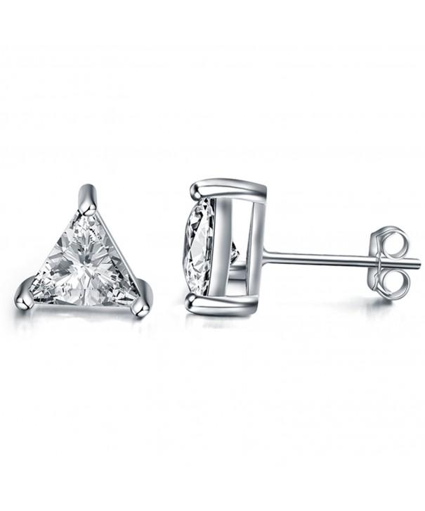 Sephla Sterling Triangle Zirconia Earrings