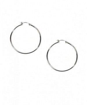 Sterling Silver Round Circle Earrings