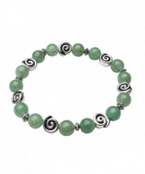 Aventurine Bracelet Celtic Swirls Stretch