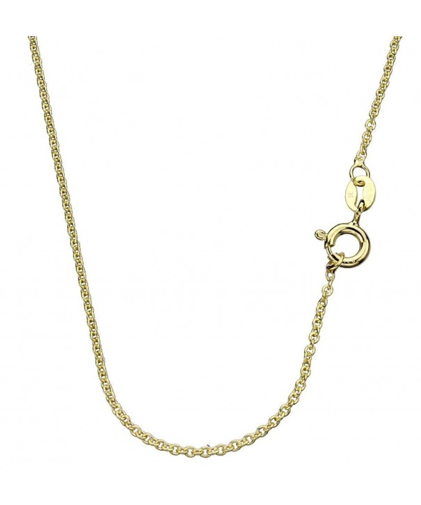 Gold Flashed Sterling Silver Chain Necklace