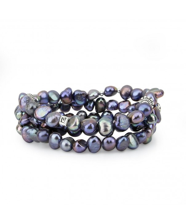Genuine Freshwater Cultured Bracelets base metal beads