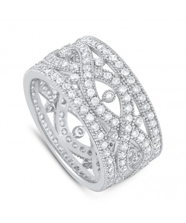 Sterling Simulated Diamond Infinity Statement